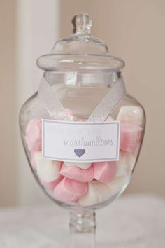 Baby Love Baby Shower candy jars!  See more party planning ideas at CatchMyParty.com!