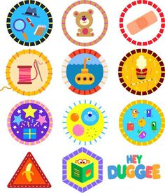 Hey Duggee Badges SVGs - detective, teddy bear, first aid, sewing… First Birthday Parties, 3rd Birthday, Birthday Party Themes, Birthday Invitations, First Birthdays, Birthday Badge, Birthday Ideas, Harry Birthday, Bday Girl