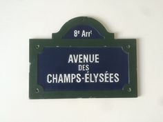 Vintage French Parisian Blue and Green Street by LePasseRecompose