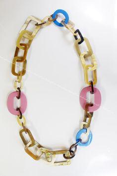 Horn Necklace 100% Handmade Jewelry by Linhcraft