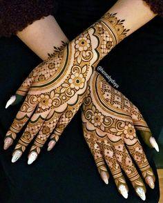 Most Beautiful Henna Designs 2019 Henna Flower Designs, Henna Tattoo Designs Simple, Back Hand Mehndi Designs, Latest Bridal Mehndi Designs, Full Hand Mehndi Designs, Mehndi Designs For Beginners, Mehndi Designs For Girls, Mehndi Designs For Fingers, Dulhan Mehndi Designs