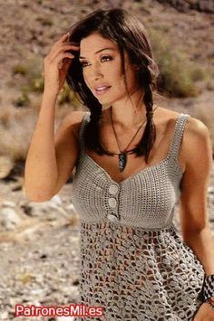 Fabulous Crochet a Little Black Crochet Dress Ideas. Georgeous Crochet a Little Black Crochet Dress Ideas. Débardeurs Au Crochet, Crochet Tunic, Crochet Woman, Crochet Clothes, Crochet Stitches, Crochet Bikini, Crochet Patterns, Crochet Summer Tops, Crochet Tops