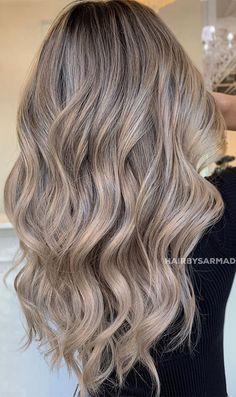 Dyed Blonde Hair, Blonde Hair Looks, Brown Blonde Hair, Black Hair, Blonde Brunette Hair, Cool Toned Blonde Hair, Ash Blonde Hair Balayage, Blonde With Brown Lowlights, Blonde Fall Hair Color