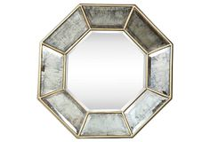 One Kings Lane - Reflections of Style - Holland Mirror, Gold Attic Remodel, Living Room Remodel, Apartment Living, Blank Wall Solutions, Narrow Rooms, Victorian Art, One Kings Lane, Furniture Decor, Holland