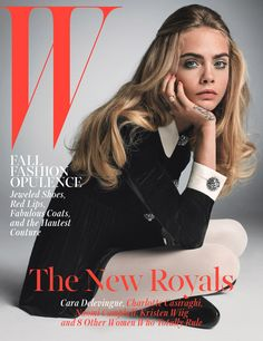 favoritas de octubre Cara Delevingne is one of W's 5 October 2014 cover stars. Meet the new royals…Cara Delevingne is one of W's 5 October 2014 cover stars. Meet the new royals… Fashion Cover, Look Fashion, Trendy Fashion, Autumn Fashion, Fashion Magazine Covers, Fashion Magazines, Fashion Beauty, Top Models, Pretty People