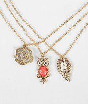Daytrip Rhinestone Necklace Set