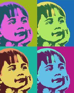 Items similar to Andy Warhol Custom pop art portrait, personalized portrait, colorful modern art - digital file on Etsy Pop Art Portraits, Portrait Art, Pop Art Drawing, Art Drawings, Pop Art For Kids, Kids Fun, Animation Photo, Andy Warhol Pop Art, New Year Art