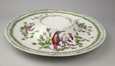 Victoria Austria hummingbird pattern raised-center plate pin dish artichokes #Victoria