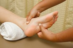 D.I.Y foot reflexology techniques for treating back pain at home.
