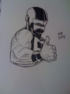 Puck sketch by Nick Bradshaw Comic Art - Alpha Flight / Marvel Comics
