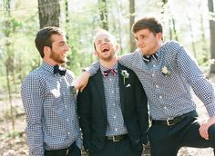 the fellas in gingham shirts and bow ties... be still my heart!
