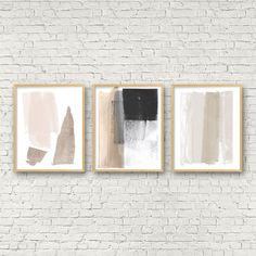 Modern Minimalist Abstract Art Prints, Set of 3 Prints, Neutral Home Decor, Greige Wall Art, Large Abstract Art Poster Set by MinimalInstant on Etsy Wal Art, Change Your Life, Scandinavian Art, Layout, Modern Art Prints, Wall Art Sets, Minimalist Art, My New Room, Abstract Art