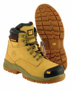 Caterpillar Spiro S3 Honey Safety Boots Size 6 | Caterpillar Boots | Screwfix.com Cat Shoes, Men's Shoes, Shoe Boots, Caterpillar Boots, Gents Fashion, Steel Toe Boots, Tactical Clothing, Hiking Shoes, Fashion Boots