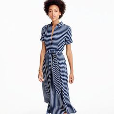 Stripe Midi Dress from J.Crew Ladylike Style - Sequins and Stripes