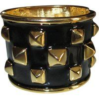 Kenneth Jay Lane Spike Gold Plated & Black Enamel Cuff Bracelet$199More details
