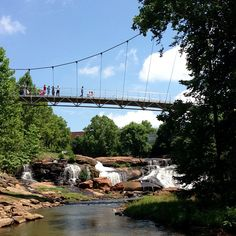 Falls Park in downtown Greenville, SC - Photo by @Logan Wolfram