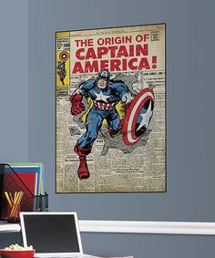 Look what I found on #zulily! Captain America Peel & Stick Comic Cover Decal #zulilyfinds