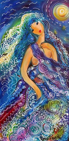 I See That She is Love.The Theme at this years Goddess Conference in Glastonbury is The GODDESS OF WATER. -- Art by Ronnie Biccard