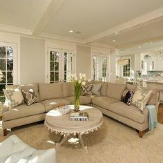 Traditional Living Room Photos traffic patterns and furniture placement | conversation area