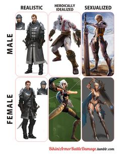 bikiniarmorbattledamage on fantasy armor in realistic, heroically idealized, and sexualized designs for male vs female armor. Fantasy Character Design, Character Concept, Character Art, Gamer Humor, Gaming Memes, Dnd Characters, Fantasy Characters, Fantasy Inspiration, Character Inspiration