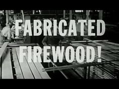 "Making Logs from Sawdust: ""Fabricated Firewood - Industry on Parade"" 1954: http://youtu.be/Cf6c8AdiUOk #fuel #firewood #sawdust"
