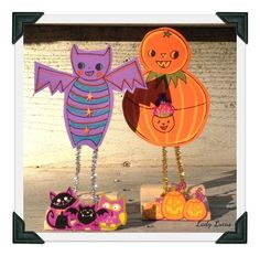 Woop Woop! Looking forward to Halloween? Then today we have a fab tutorial for you from the very talented Ashley over at Lady Lucas. This one is perfect for both adults and kiddies so get making :-) http://art-of-crafts.net/2015/10/08/folk-art-halloween-friends-tutorial/