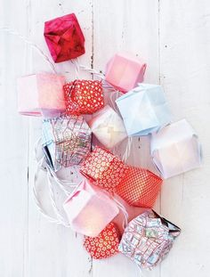 Origami box string lights #rackupthejoy