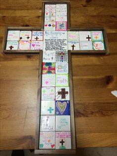 Tile cross was made for a school auction project.