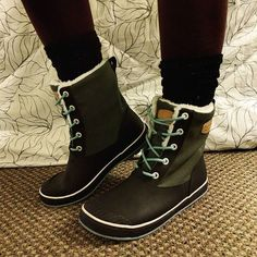 """Finally got some Seattle appropriate boots! Thanks to Keen for making cute, warm, waterproof boots! Woo!!"""