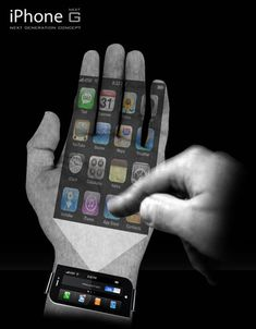 The future iPhone G projects the iPhone onto your hand.