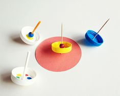 DIY Lollipop Spinning Tops