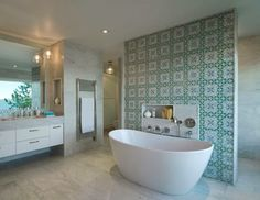 that tile would be cool for an accent wall maybe - House of Turquoise: DHD Architecture