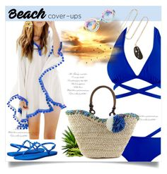 """""""Beach Cover-ups"""" by linkfari ❤ liked on Polyvore featuring Havaianas, CVC Stones and coverups"""
