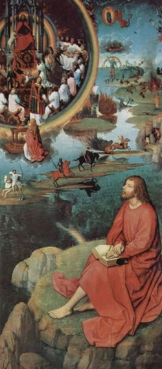 Hans Memling (1433-1494) - St John Altarpiece - John the Evangelist on Patmos and visions of the apocalypse