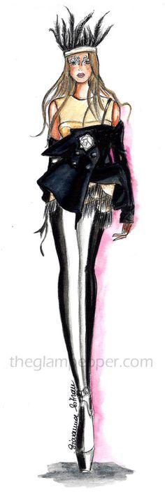 Haute Couture  Maison Martin Margiela Couture Spring 2015   http://www.theglampepper.com/2015/01/13/haute-couture-maison-martin-margiela-couture-spring-2015/ Giovanna Sitran fashion illustration, fashion sketch, doodles