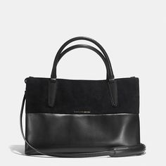 Coach Purse Black mini soft borough bag in Retro Glove black leather and suede Coach Bags
