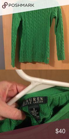 Green sweater with gold buttons Green sweater with gold buttons great for st. Patrick's day Lauren Ralph Lauren Sweaters Crew & Scoop Necks