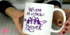 Learn two ways on how you can apply adhesive craft vinyl to a mug or similar curved surface.