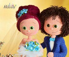 Muster Braut und Bräutigam häkeln Amigurumi von HavvaDesigns