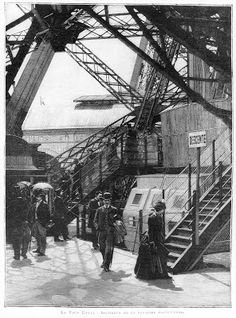 The Eiffel Tower's Inauguration and first visitors Gustave Eiffel, Torre Eiffel Paris, Paris Eiffel Tower, Construction, Vintage Paris, World's Fair, Old Buildings, Most Visited, Stock Pictures