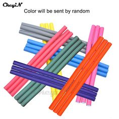 50Pcs/Lot Flexi Hair Rods Colorful Plastic Hair Rollers Bendy Twist Curl Roller Girl's DIY Hair Styling Tools 24CM HS18_8415