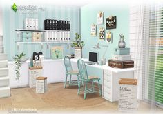 My Sims 4 Blog: Home Office Set by Simcredible Designs