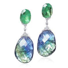 Jewelry Trends, Jewelry Accessories, Titanic Jewelry, Fine Jewelry, Women Jewelry, Tanzanite Jewelry, Mourning Jewelry, Emerald Earrings, Artisan Jewelry
