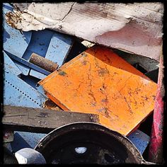 Colorful junk and beautiful textures.