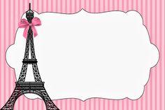 Free Paris Party Invitations.