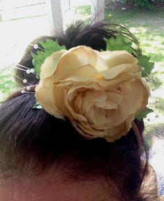 Fall Hair flower MeloDi Fleur barn wedding by AmoreBride on Etsy