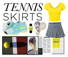 """""""Tennis Skirt"""" by reem-hamed ❤ liked on Polyvore"""