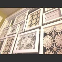 crochet doilies Creative ideas in crafts and upcycled, innovative, repurposed art and home decor. Framed Doilies, Lace Doilies, Crochet Doilies, Recycler Diy, Doily Art, Doilies Crafts, Vintage Handkerchiefs, Linens And Lace, Crochet Art