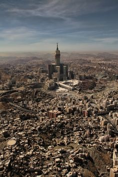 I've never seen an aerial view like this one... Beautiful - Makkah, Saudi Arabia