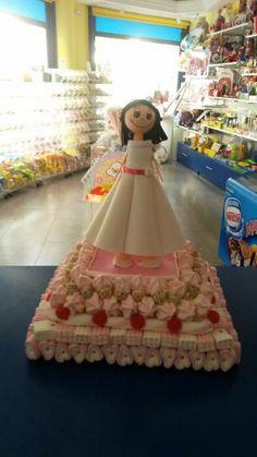 Preciosa tarta de comunión realizada por Duldi Ciudad Real.